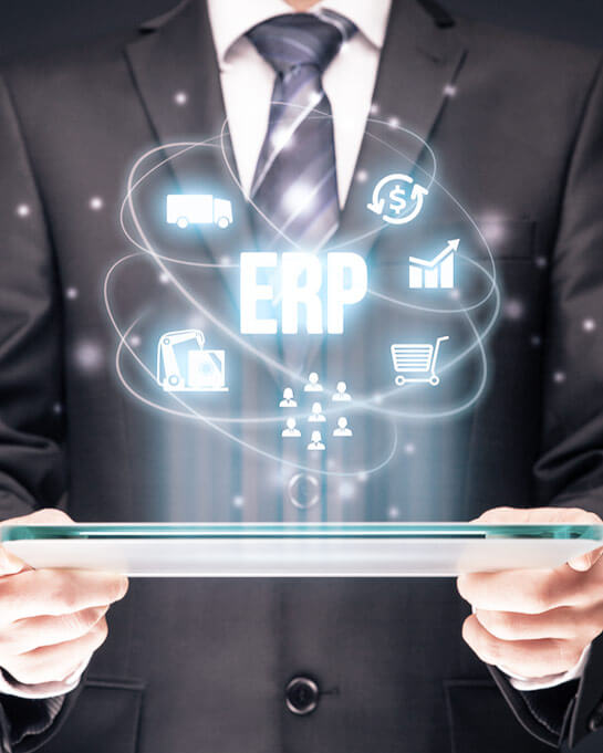 ERP Graphic with tablet